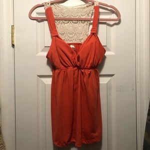 No boundaries tank removable cups lace back coral